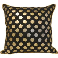 Better Homes and Gardens Gold/Black Dot Pillow - Walmart.com