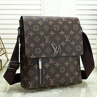 LV Men Fashion Leather Crossbody Satchel Bag