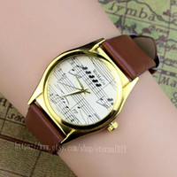 Brown strap watch notes, restore ancient ways music sound spectrum watches, men and women all appropriate watches, the best gift