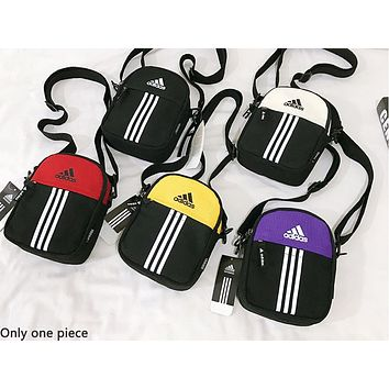 ADIDAS hot selling fashion lady Mosaic color casual shopping shoulder bag
