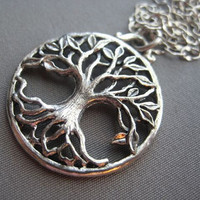 Tree of Life Necklace - Tree of Life Jewelry - Tree Necklace - Silver Tree Jewelry - Family Tree - Mothers Day Jewelry - Tree of Life Silver