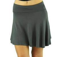 ToBeInStyle Women's Light Above Knee Elastic, Waist: Mini Skirt Short Fit