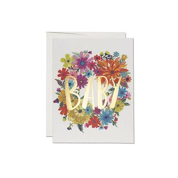 Baby Wreath Foil Card