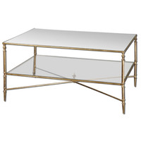 Uttermost 24276 Gold Henzler Coffee Table