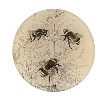 John Derian Common Bumble Bees Round Plate