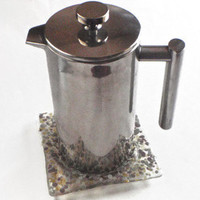 coffee press coaster – Etsy