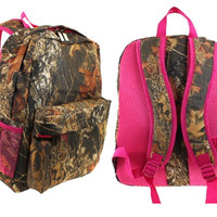 kids Pink Camouflage Backpack