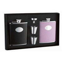 Visol Union His & Her 6oz Hip Flask Gift Set