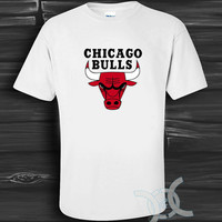 chicago bulls White Design By Custom And Clothing T-Shirt men size S,M,L,XL
