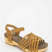 Flogg Milly Woven Platform Sandal- Brown