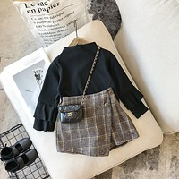 Chrissy Plaid Skort
