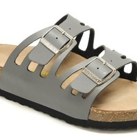 Birkenstock Granada Sandals Leather Grey