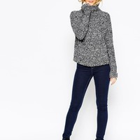 ASOS TALL Chunky Sweater with High Neck in Boucle