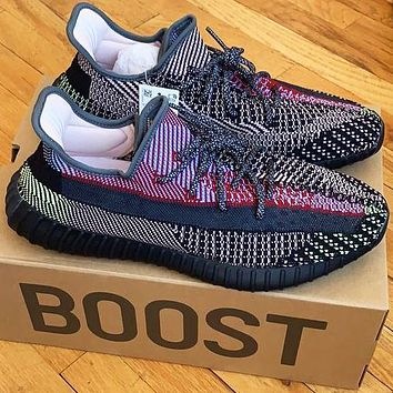 Onewel ADIDAS x Off White Yeezy Boost 350 V2 Woman Men Fashion Sport Sneakers Shoes Black Chameleon