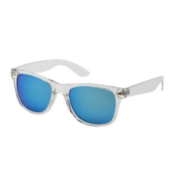 Clear Mirrored Clear Plastic Sunglasses by Charlotte Russe