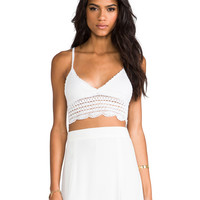 Lovers + Friends South Beach Crochet Top in White