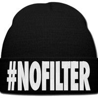 NO FILTER beanie knit hat