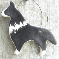 Border Collie Dog Salt Dough Xmas or Kitchen Ornament