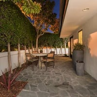 The Guest Patio - Mila Kunis Los Angeles Mansion - Lonny