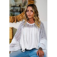 Feeling Free Ruffled Top - Ivory