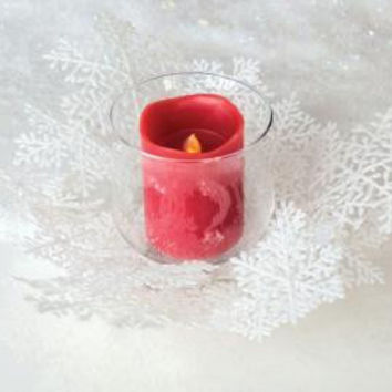 3 Glass Candle Holders - Holds(1)pillar Candle - Not Included