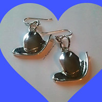 Cowgirl Hat Earrings, Country Western Earrings,Western Jewlery Earrings,Country Girl, Cowgirlup,Line Dancing, Ready to Ship,Direct Checkout