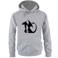 how to train your dragon Hoodie Sweatshirt Sweater Shirt Gray and beauty variant color for Unisex size