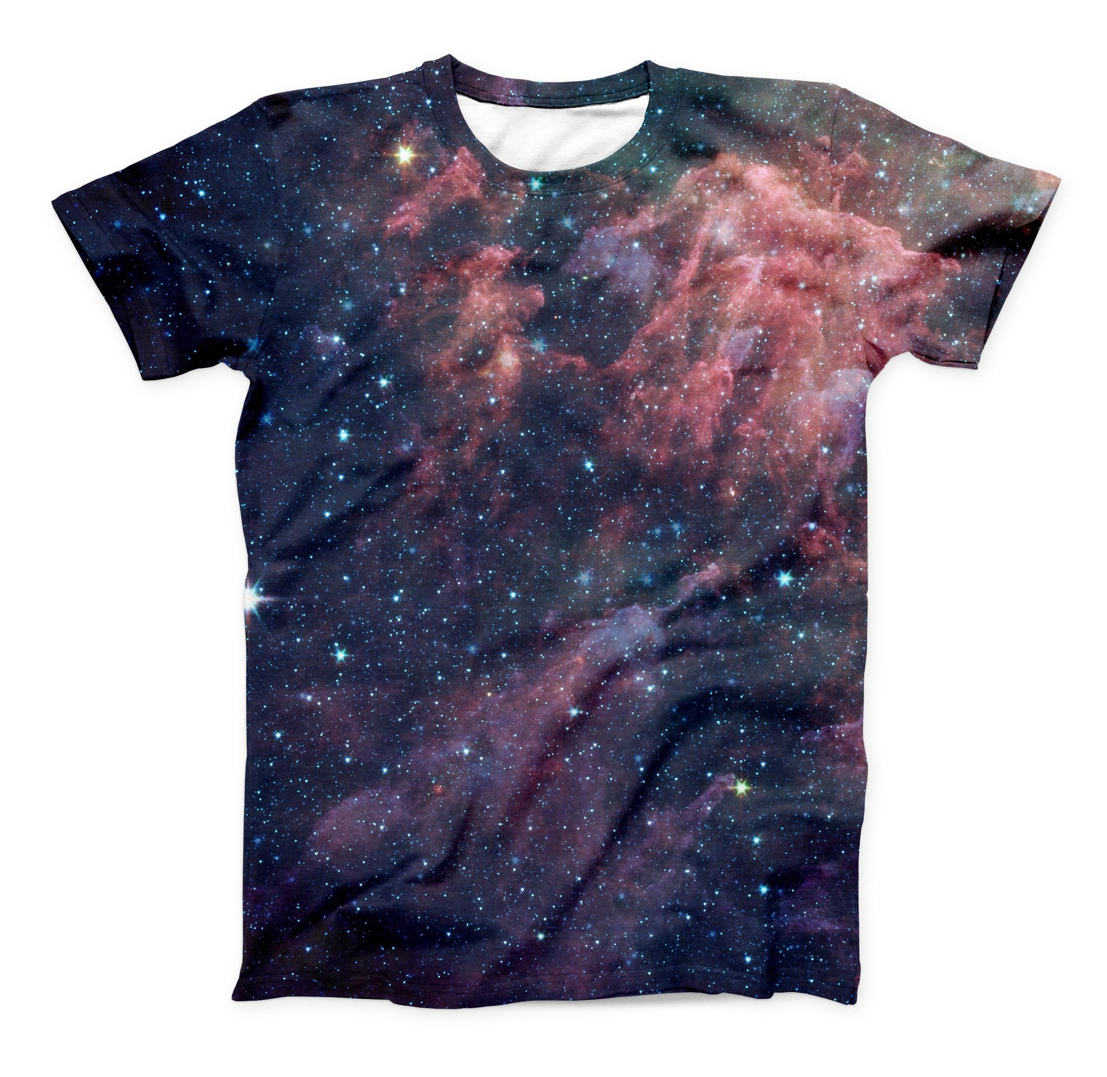 Image of The Colorful Deep Space Nebula ink-Fuzed Unisex All Over Full-Printed Fitted Tee Shirt