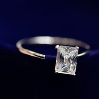 DCCK0OQ Gift New Arrival Jewelry Shiny 925 Silver Stylish Simple Design Diamonds Korean Accessory Ring [8380579655]