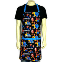 Star Trek Apron , Mr Spock , Captain Kirk , Fully Adjustable with Pocket , Kitchen , Chef