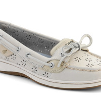 Women's Floral Perf Leather Angelfish Boat Shoe