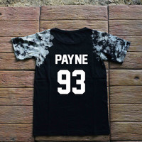 Liam Payne One Direction Tie dye Shirt Tye Dye Shirt Black Shirt