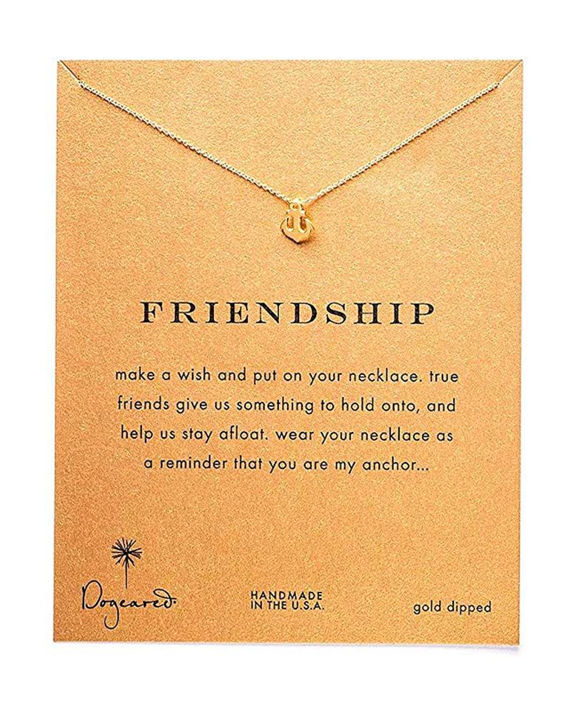 Image of Dogeared - Reminder Smooth Anchor Friendship Necklace in Gold Dipped