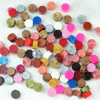 Hot Sale 100 PCS set Multicolor Stamps Sealing Wax granule In bulk Multifunction Documents Stamp supplies