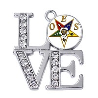 LOVE Order of Eastern Star OES Charms Pendants