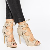 AX Paris Annabel Ghillie Lace Up Heeled Sandals