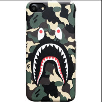 Bape shark print phone shell phone case for Iphone 6/6s/6p/7p/x/7