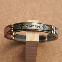 Fear Not,For I AM With You Stretch Bracelet