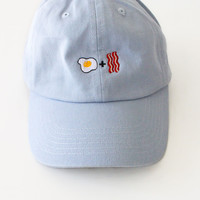 Egg & Bacon Cap - Light Blue