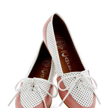Jeffrey Campbell Menswear Inspired Lovely by the Links Flat in Rose