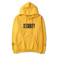 Indie Designs Fear Of God Inspired Purpose Tour Security Printed Hoodie