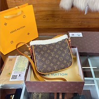Louis Vuitton LV Monogram Wool Crossbody Shoulder bag
