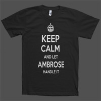 Keep Calm and let Ambrose Handle it Personalized Name T-Shirt