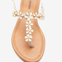 Anna 7 Enameled Flower Sandal