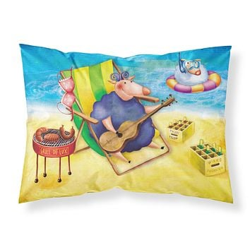 Pig Sunbathing on the Beach Fabric Standard Pillowcase APH0079PILLOWCASE