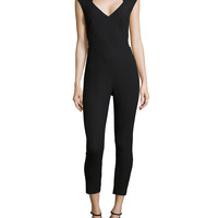 Sleeveless Jumpsuit with Cutout