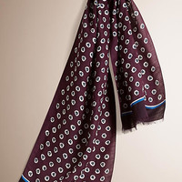 Abstract Floral Modal Linen Scarf