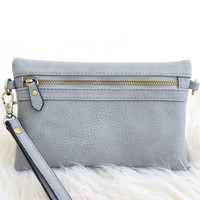 Riley Convertible Purse In Charcoal