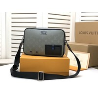 lv louis vuitton mens zipper shoulder bag crossbody bag handbag mens business bag classic clutch bag