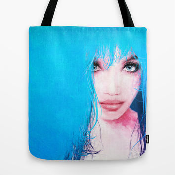 MonGhost XI - TheBlueDream Tote Bag by LilaVert